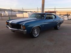 72 chevelle #BecauseSS brushed mesh modulare wheels ss pro touring blue
