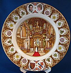 Coalport Plate Royal Wedding Prince Charles and Princess Diana St. Paul's Cathedral.~~July 29,1981~~