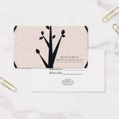 #elegant - #Little Rustic Tree Nature Organic Refer a Friend Business Card