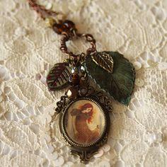 "Necklace Locket   ""Autumn Sorcery"" by Minasmoke on Etsy #autumn #leaves"