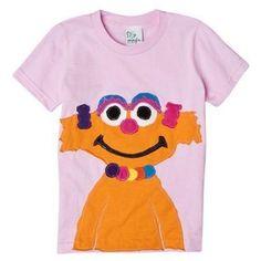 92f4de9861f7 Sesame Street Zoe Toddler Girls  Pink Short-Sleeve Tee by Morfs 4T College  Supplies
