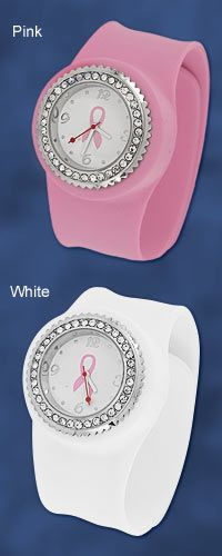 Pink Ribbon Silicone Slap Watch at The Breast Cancer Site