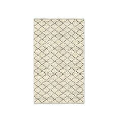 Watercolor Trellis Wool Shag Rug - Ivory