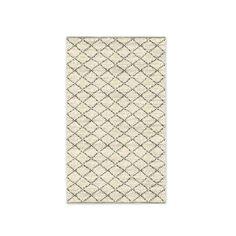 Watercolor Trellis Wool Shag Rug - Ivory