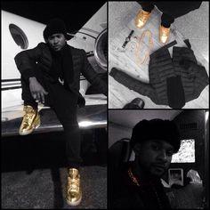 Usher // Air Jordan 3 'Gold'