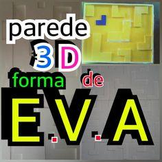 Cono fazer uma placa de gesso em casa Fôrma de E.V.A parede 3D
