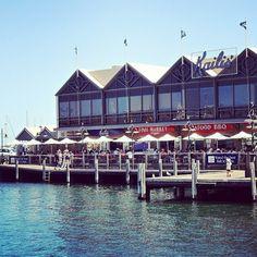 #ThatPlace to enjoy seafood on the jetty, Fremantle, Western Australia