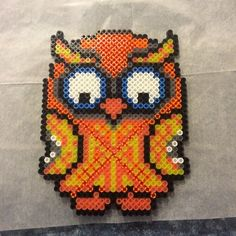 Owl perler beads by daydreaming_edm