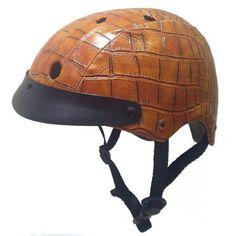 Crocodile Brown Helmet  Sawako Furuno * Click on the image for additional details. (This is an affiliate link) #BikeHelmetsAccessories