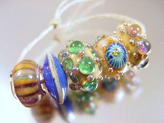 Handmade lampwork glass beadsSUPERSTARSRA by AvasBeadGarden,
