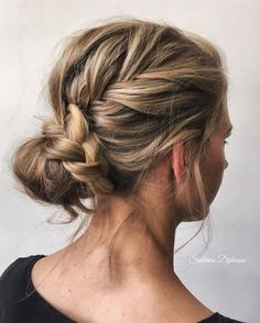 Very Easy to Do Hair Braids Curly Bun Hairstyles, Hairstyle Ideas, Bridal Hair Updo, Hairstyle Wedding, Braids With Curls, Great Hair, Hair Trends, Hair Beauty, Hair Styles