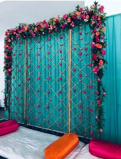 decorations indian Backdrop You are in the right place about wedding decorations summer Here we offer you the most beautiful pictures about the wedding decorations white you are looking for. Desi Wedding Decor, Wedding Hall Decorations, Marriage Decoration, Backdrop Decorations, Backdrops, Wedding Ideas, Engagement Stage Decoration, Budget Wedding, Boho Wedding