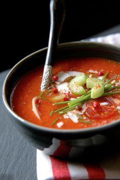 Soupe glacée tomate et poivron