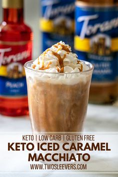 These Keto Cream Cheese Cookies are the perfect way to get your sweet tooth fix while keeping it low carb. They're so good you won't believe they're keto! Low Carb Drinks, Healthy Drinks, Healthy Iced Coffee, Sugar Free Iced Coffee, Healthy Eats, Iced Caramel Macchiato Recipe, Caramel Machiato Recipe, Caramel Coffee Recipe, Iced Caramel Coffee