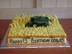 John Deere Combine Cake — Birthday Cake Photos