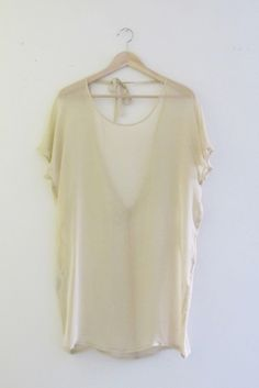Bohemian French-Inspired Nude Chiffon Low Back Tunic Dress