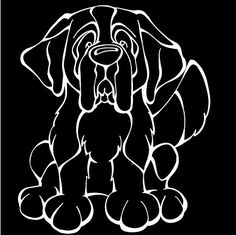 The Decal Dog of the Day is the Saint Bernard, Show off your love for your Soulmutt with a Decal Dog Car Window Sticker. #decaldogs #dogsofpinterest #SaintBernard