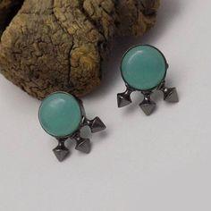 Black plated earring celeb earringparty earring designer