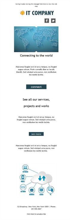 Elige la plantilla de mailing para servicios informáticos que más te guste de todas nuestras plantillas de email gratuitas y responsive.