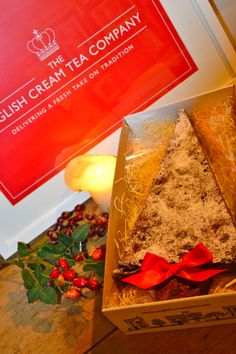 Giant Christmas Tree Brownie from www.englishcreamtea.com - super cute postable gift!