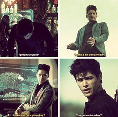 Malec worrying about each other (2x20)