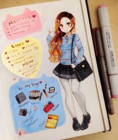 #meettheartist I was tagged by @ohayorinka I hope you like it!!! just ignore the sticky note lolol you know is hard to correct mistakes with markers if you have maybe a question about me, feel free to ask here! #drawing #traditionalart #traditional #animeart #anime #instaart #instaanime #kawaiigirl #kawaii #cuteart #cute #moe #copicart #artists #artistoninstagram #animestyle #artoftheday #copic #animegirl #cutecute #instaartist #cuteanime #animedraw #mangagirl #mang...
