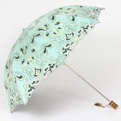 Hot Retro Ladies Anti-Sun Umbrella New Two Fold Flower lace Embroidery Parasol