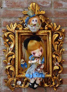Mad Hatter's tea by Sally's Song Dolls (Alice in Wonderland bloody version) OOAK Custom doll
