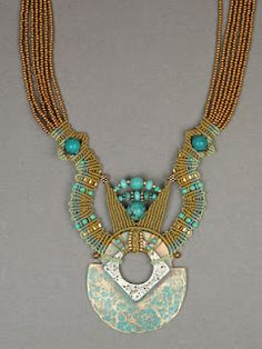 I love the colour scheme and egyptian scent yet modern look of this piece (by Joan Babcock)