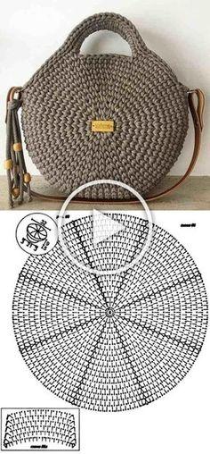 Häkeln Sie Amigurumi-Ente - kostenlose DIY-Anleitung - Kleiner Balkon Ideen Knitting For BeginnersKnitting HatCrochet BlanketCrochet Ideas Free Crochet Bag, Crochet Tote, Crochet Handbags, Crochet Purses, Knit Crochet, Crochet Granny, Crochet Motifs, Crochet Stitches, Knitting Patterns
