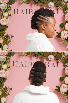 Tuck and pin mohawk Natural Hair Salons, Natural Hair Styles, Cornrows, Braids, Amazons, Hair Care, Crochet Hats, Hairstyles, Makeup
