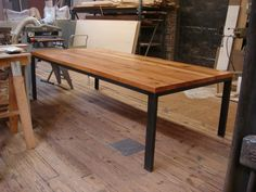 Dining Table Base – Structural Steel And Reclaimed Oak