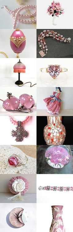 Timeless Pink by Allison and Sheryl on Etsy--Pinned with TreasuryPin.com