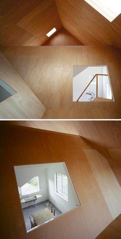 plywood modern loft