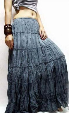 Bohemian skirts (used to wear these all the time at home, but no longer have that skirt.)
