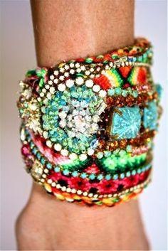 www.gingerrootgypsy.com Boho Bohemian Inspiration Bracelet