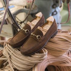 Introducing our New Blake stitch horsebit loafers in brown suede. Discover at Carmina shoemaker website & stores Suede Loafers, Penny Loafers, Loafers Men, Cordovan Shoes, Leather Fashion, Mens Fashion, Gentleman Shoes, Men S Shoes, Brown Suede