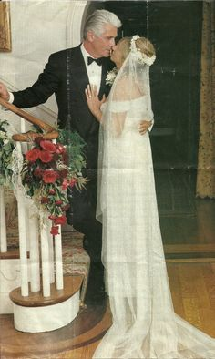Barbra Streisand and James Brolin wedding 1998. Love this picture.