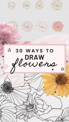 flower art 30 Simple Ways to Draw Flowers // Flower drawing, drawing ideas, art, flower doodles Simple Flower Drawing, Flower Line Drawings, Flower Drawing Tutorials, Simple Line Drawings, Simple Flowers, Easy Drawings, Art Tutorials, Flower Art Drawing, Simple Flower Painting