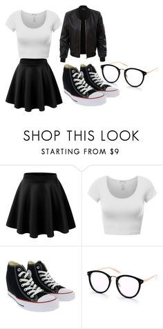 """""""outfit"""" by hjeanb on Polyvore featuring Converse and LE3NO"""