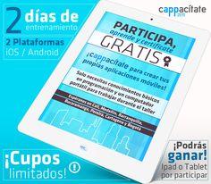 Buenos Días Amigos, El #MinTIC nos brinda la posibilidad de capacitarnos en la creación de #aplicaciones #móviles #technology #aplicaciones http://www.cappacitate.com/