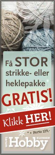 Gratis strikkeoppskrifter - Strikkeoppskrift.com