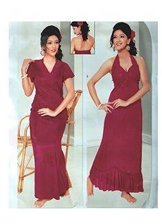 Indiatrendzs Women s Sexy Hot Nighty Red 2pc Set Honeymoon Nightwear  Freesize Indiatrendzs http    ce8d4f111