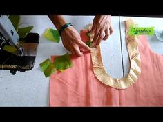 Hello, Viewers, Welcome to Vasundhara Trends. If you are looking for stitching latest and new designer blouse yourself, this tutorial is for you. In this tut. Blouse Neck, Sari Blouse, Saree Blouse Designs, Sewing Tutorials, Sewing Projects, T Shirt Tutorial, Blouse Patterns, Sewing Patterns, Sewing Blouses
