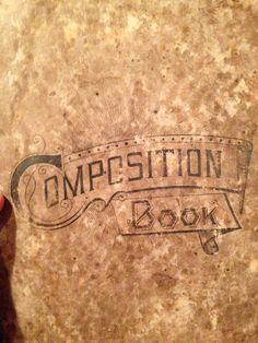 Old composition notebook