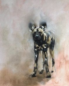 'African Wild Dog' by Julie Brunn African Hunting Dog, African Wild Dog, Wildlife Paintings, Wildlife Art, Paintings I Love, Animal Paintings, Wolf Hybrid, African Paintings, Large Animals