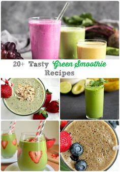 I have gathered up over 20 of the best, most delicious, healthiest green smoothie recipes from some of my favorite food bloggers for you all.