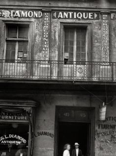 "New Orleans circa 1920. ""Diamond antique store, Royal Street."" Where Stella Kowalski shopped. Nitrate negative by Arnold Genthe via shorpy.com"