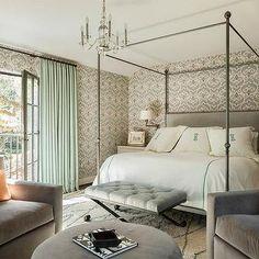 Gray and Orange Bedroom Sitting Room