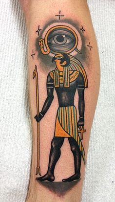 Egyptian Horus tattoo by Heath Nock sydney tattoo studio